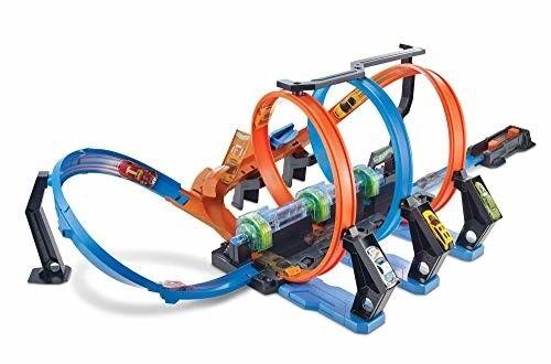 Hot Wheels Racing Car Corkscrew Crash Track Set High Speed Loops Fun Kids Gift