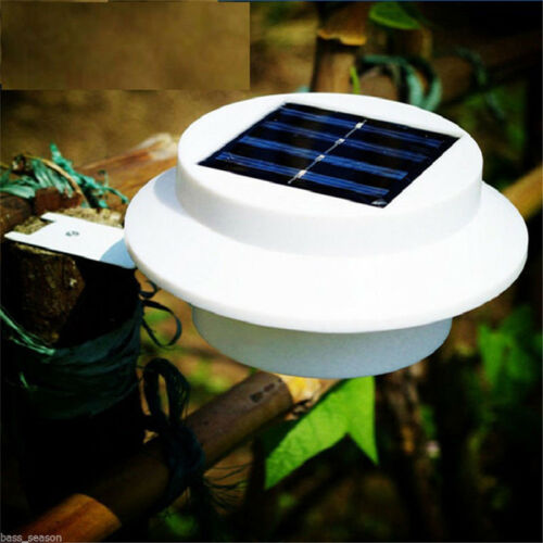 3 LED Solar Powered Outdoor Garden Yard Wall Fence Pathway Lamp Gutter Light CHZ