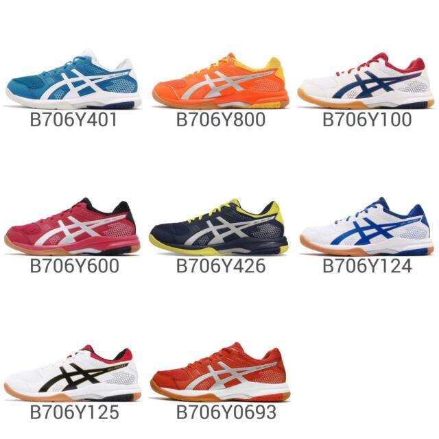 Asics Gel Rocket 8 Gum Mens Volleyball Badminton Indoor Shoes Pick 1