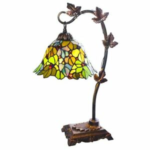 Tiffany style stained glass table lamp 23 inch victorian style image is loading tiffany style stained glass table lamp 23 inch aloadofball Choice Image