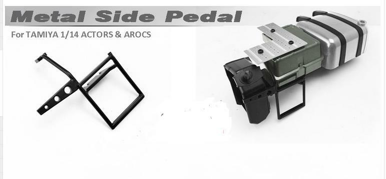 Metal Side Pedal Stair Stair Stair For 1 14  Tamiya RC Tractor  Benz Actros 1851 AROCS 3363 69eb10