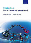 Introduction to Human Resource Management by Rebecca Kay, Paul Banfield (Paperback, 2008)