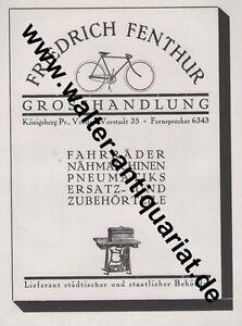 Fr-Fenthur-Fahrrad-Naehmaschine-Koenigsberg-Ostpreussen-Grosse-Reklame-von-1922