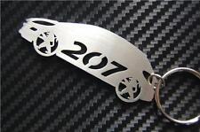 207 CAR keyring keychain Schlüsselring porte-clés SPORT HDi SE GT 2.0 1.6 1.4 CC