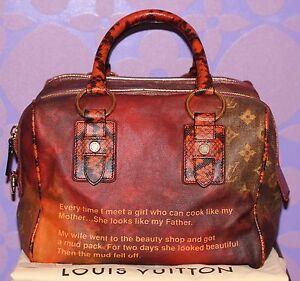 Louis Vuitton Richard Prince Mancrazy Printemps Jokes Snakeskin