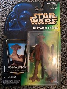 "Star Wars Power of the Force LOOSE 3.75/"" Figure MOMAW NADON Hammerhead blaster"
