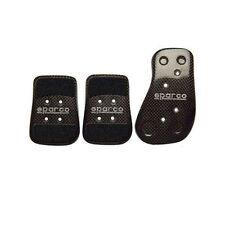 Sparco 03783L Carbon Fiber Pedal Kit New with Hardware Fast Free Shipping!