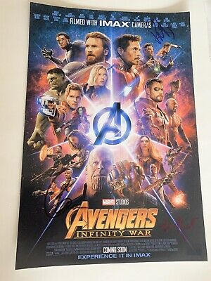 """12"""" x 18"""" MARVEL Collector/'s Photo CHRIS EVANS Captain America Movie Poster"""