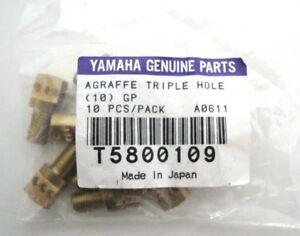 Yamaha-Genuine-Parts-Agraffe-Triple-Hole-10-Stueck-Klavier-Messing-Ersatzteile