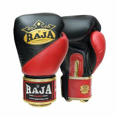 BLACK /'RAJA/' BOXING GLOVES FOR MARTIAL ARTS SPORTS