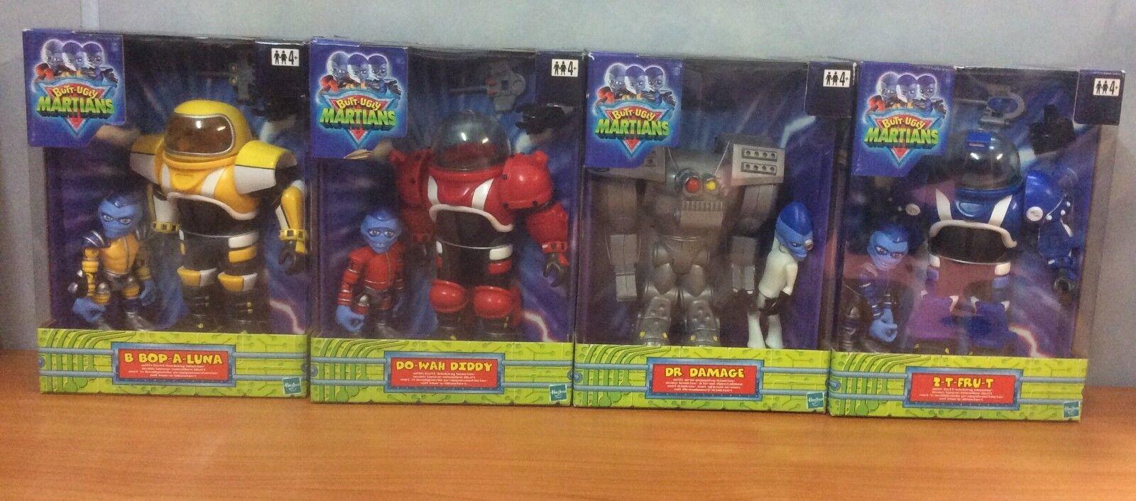 2001 Hasbro Butt-feo marcianos Set Completo De 4 Figuras De Acción-Nuevo Y En Caja