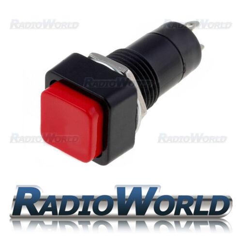 Red square rocker switch on//off spst 12v voiture van dash light 1A 250V