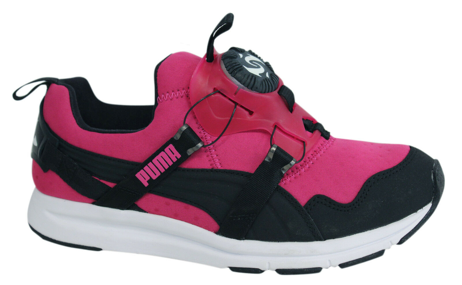 Puma Trinomic Disc Chrome Womens Trainers Slip On Pink Shoes 356489 02 U85