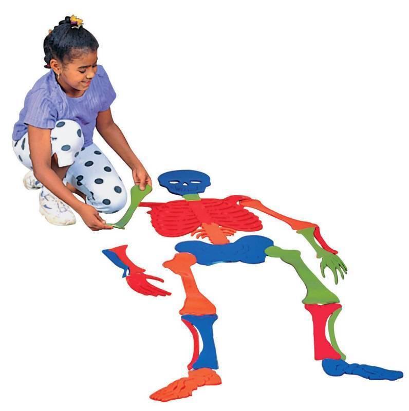 7 FOOT VINYL BONES PUZZLE Set Learning Activity Skeletal Therapy Skeleton School