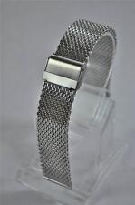 Shark Mesh Watch Bracelet fits 22mm Lug Seiko, Citizen, Omega. Fully Adjustable