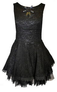 Taglia Dark Sleeveless Dress 12 Rose With Star Design Black nr0x6Ar