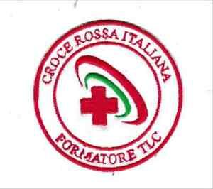 Patch-CROCE-ROSSA-ITALIA-CRI-FORMATORE-TLC-cm-7-5-diametro-toppa-ricamo-814