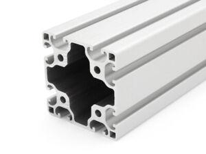 25,00 EUR//m + 0,50 EUR pro Schnitt, min. 2,50 EUR Aluminiumprofil 40x80L I-Typ Nut 8 Zuschnitt 50mm-2000mm 50mm