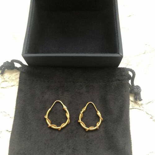 Dainty Gold Tone Lightweight Twisted Hoop Earrings