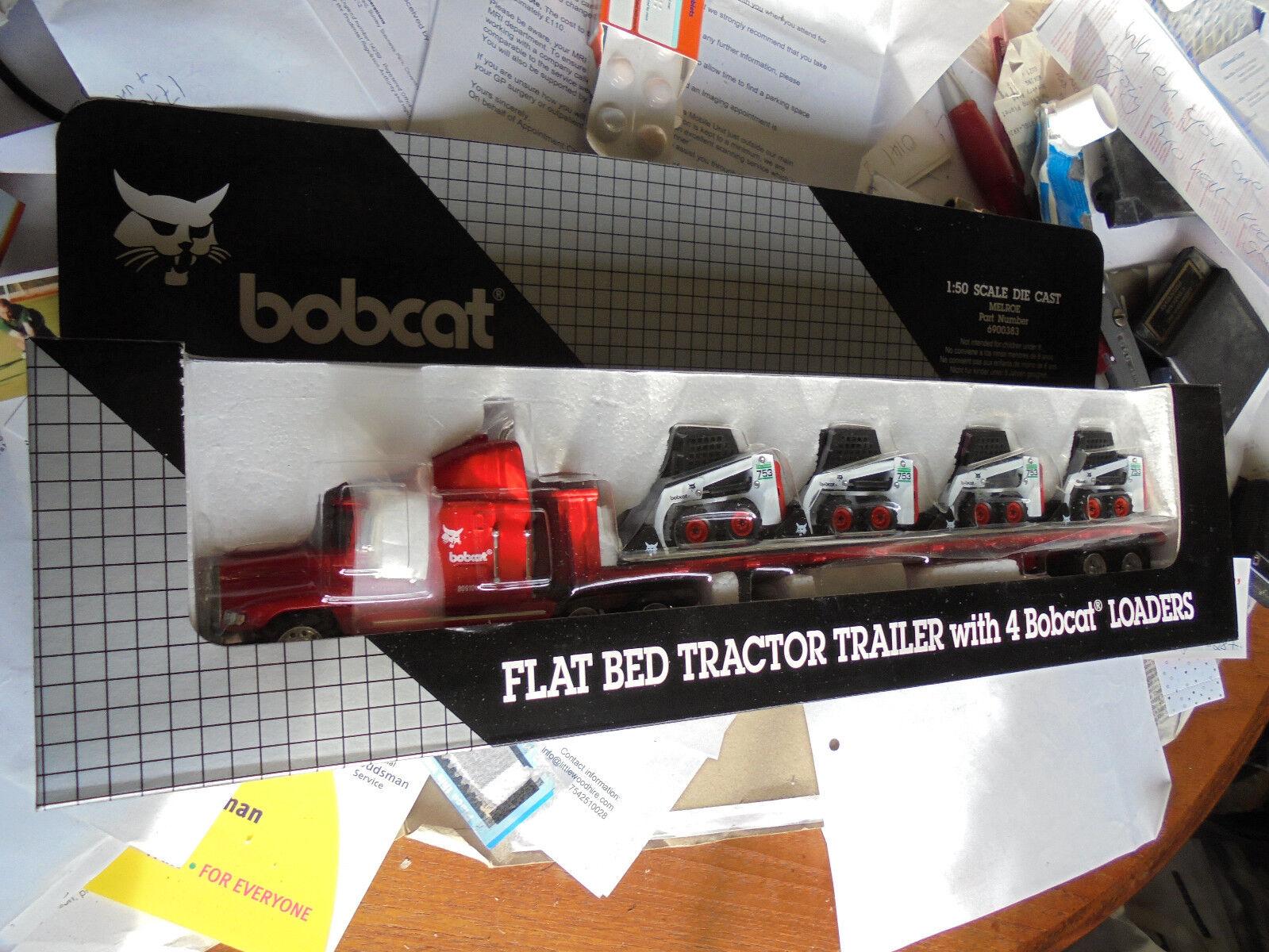 Bobcat model Tractor trailer & 4 753 skidsteer loaders 1 50 MelpinkIngersollRand