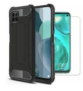 For-Huawei-P40-lite-Case-Cover-Heavy-Duty-Rugged-amp-Glass-Screen-Protector
