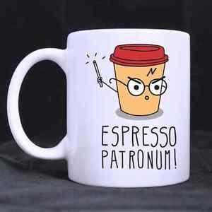 Espresso Patronum Harry Potter Funny Cartoon Mug Cup Two