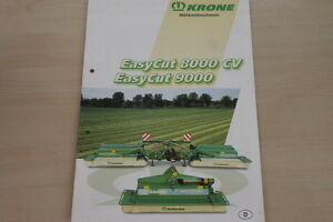 100% De Qualité 157384) Krone Mähkombination Easycut 8000 9000 Cv Prospekt 09/2003 Moderne Et EléGant à La Mode