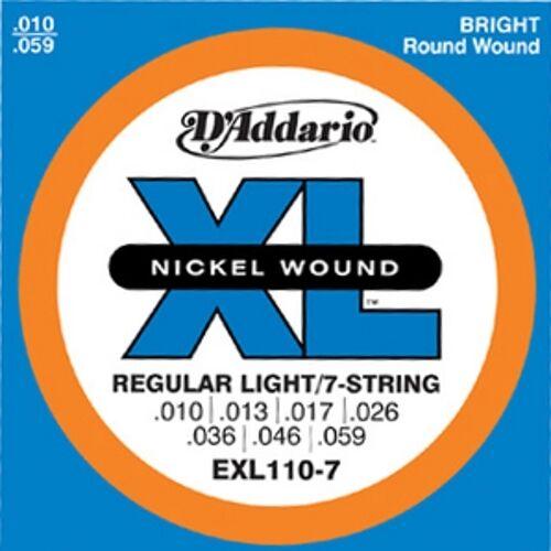 Saiten 7-string E-Gitarre 010-059 D´Addario EXL110-7