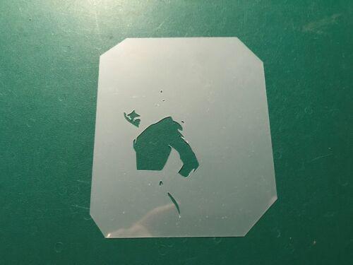 Multicapa paso a paso aerógrafo de plantilla Pin Up 2