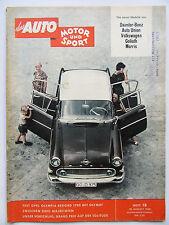 Auto Motor Sport 18/1959, Test: Opel Olympia 1700, Die neuen Modelle von....