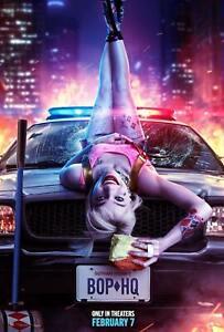 P 8 30 24x36 Birds Of Prey Poster Silk Canvas 2020 Harley Quinn Sexy Girl Movie Ebay
