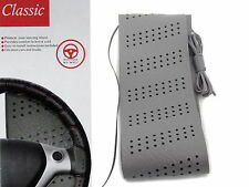 Classic Grip Synthetic Leather DIY Wrap Steering Wheel Cover Tie Gray