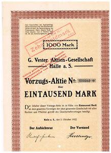 G-Vester-AG-Halle-a-S-1922-VZ-1000-Mark-Nr-2