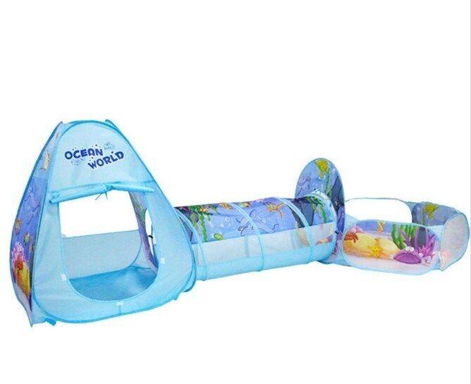 3Pcs/Set Niños tienda Juego tienda Niños casa con túnel & Ball Pool Plegable Para Niños Niñas Nuevo 082ff9