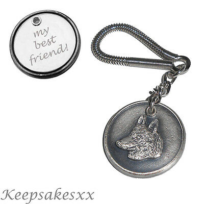 Crystal Animals UK Dog Crystal Keyring High Quality Keychain Siberian Husky