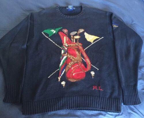 Polo Ralph Lauren Golf Bag Sweater Navy Pebble Bea