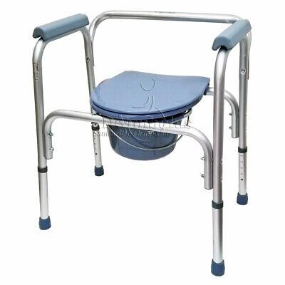 Sedia Comoda WC multifunzione per anziani disabili rialzo ...