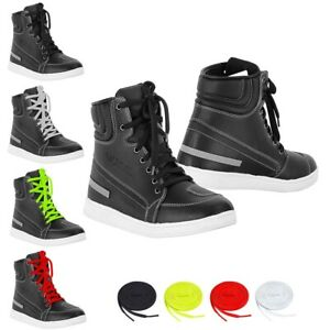 Motorcycle-Boots-Motorbike-Casual-Sneaker-Shoes-Touring-Boot-Leather-Waterproof