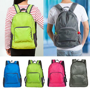 Boys-Girls-Kid-Plain-Backpack-Rucksack-School-College-Travel-Laptop-Bag-Foldable