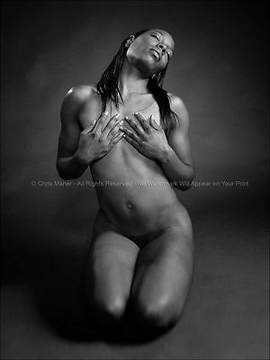 0915-EG Black Woman Studio Nude Fine Art Photography signed print Chris Maher