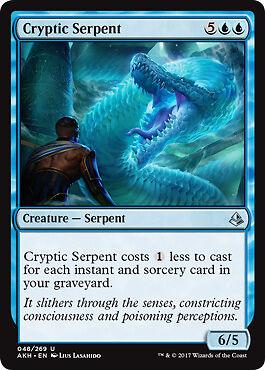 Kryptische Schlange 2x Cryptic Serpent Amonkhet Magic