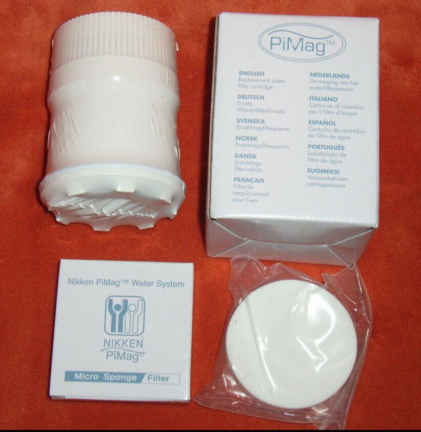 6 6 6 x PiMag® Kartuschen mit Mikroschwamm von Nikken™, NEU 5d5012