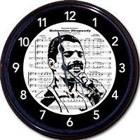 Freddie Mercury Queen Bohemian Rhapsody Wall Clock Sheet Music Rock 10