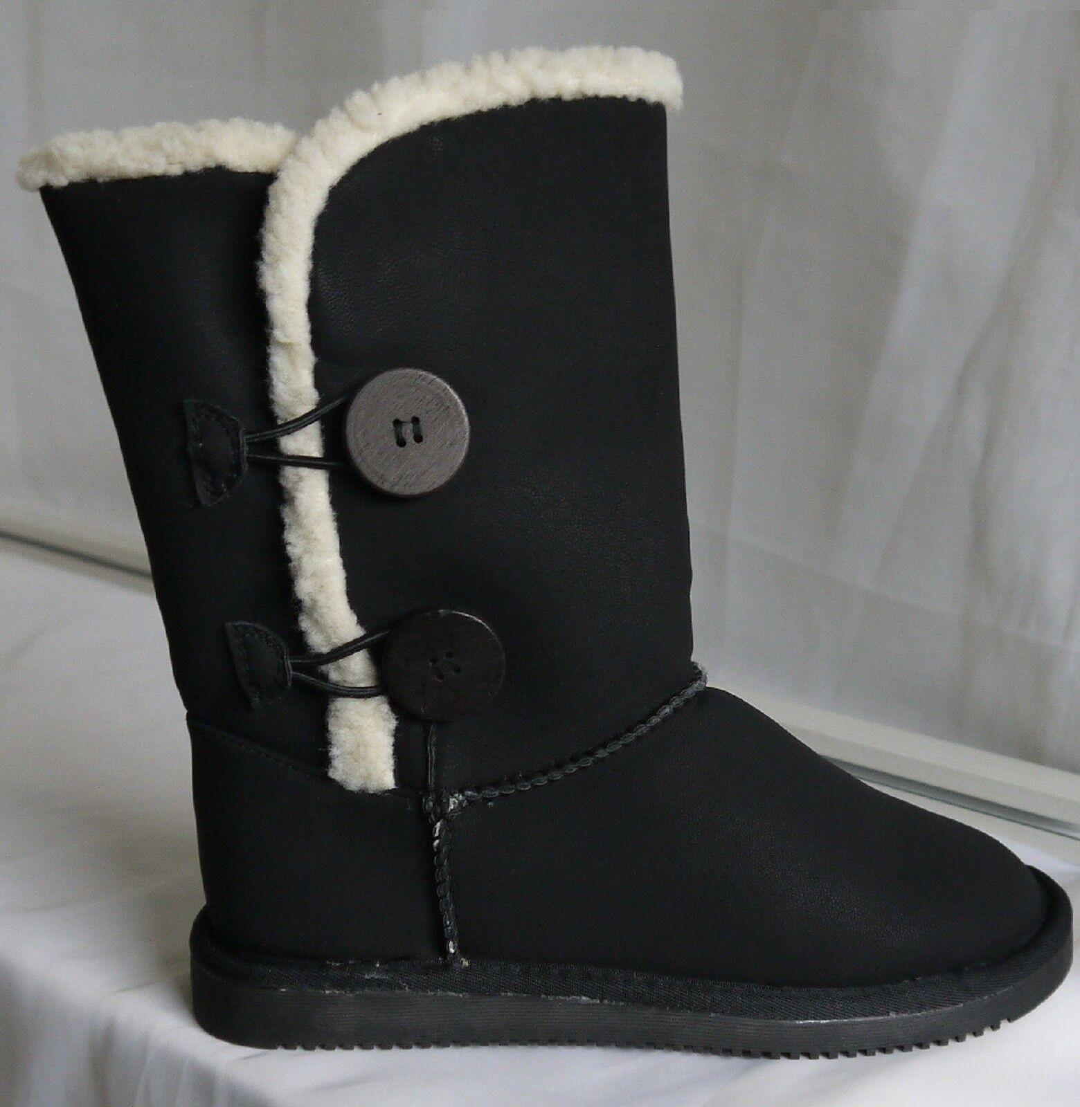 Damen Winter Boots,Winter Stiefel,Stiefe<wbr/>letten,Kunstfe<wbr/>ll,Schwarz Gr. 36