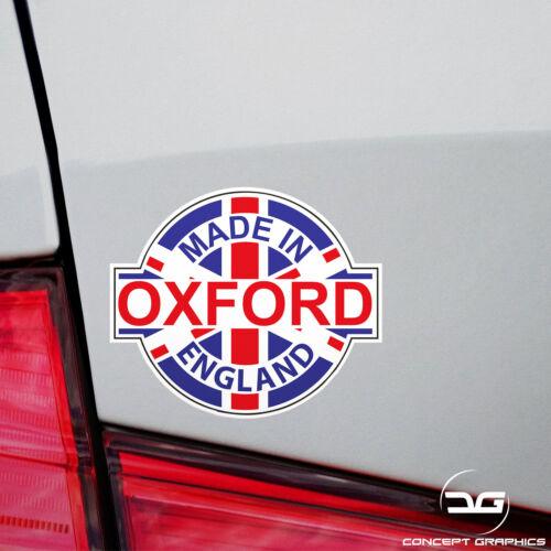 Made In Oxford Union Jack Mini Cooper S Car Window Bumper Vinyl Decal Sticker