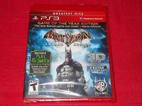 Batman Arkham Asylum Greatest Hits Ps3 Factory Sealed Fast Free Shipping