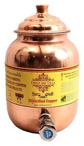 Copper-Water-Dispenser-Container-Pot-Tank-Storage-Water-Kitchenware-Yoga-1-5-ltr