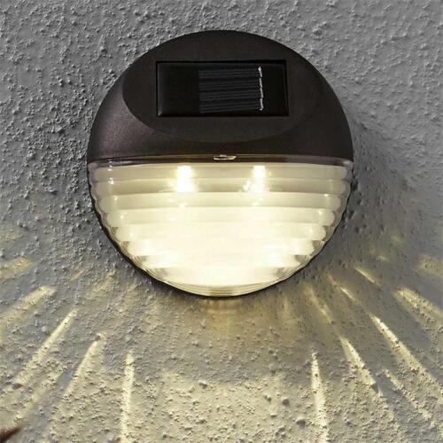 lampe murale lampe solaire montage mural 3x2 DEL blanc chaud Murale éclairage Solaire 3er Set