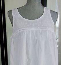 MARISA CHRISTINA White embroidered COTTON Night Gown WOMEN L NWT
