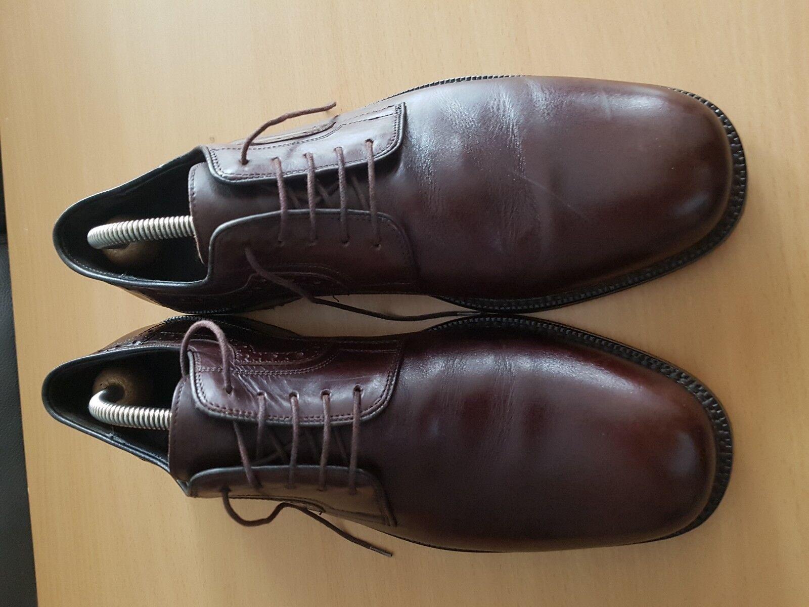 Apollo Herrenschuhe Business / Schuhe Vollleder braun Gr. 10 / Business 44.5 654443